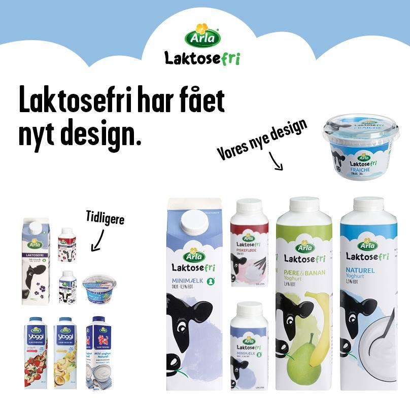 Populære Arla Laktosefri med nyt design og ny yoghurt! | Den Laktosefrie Blog GB-43