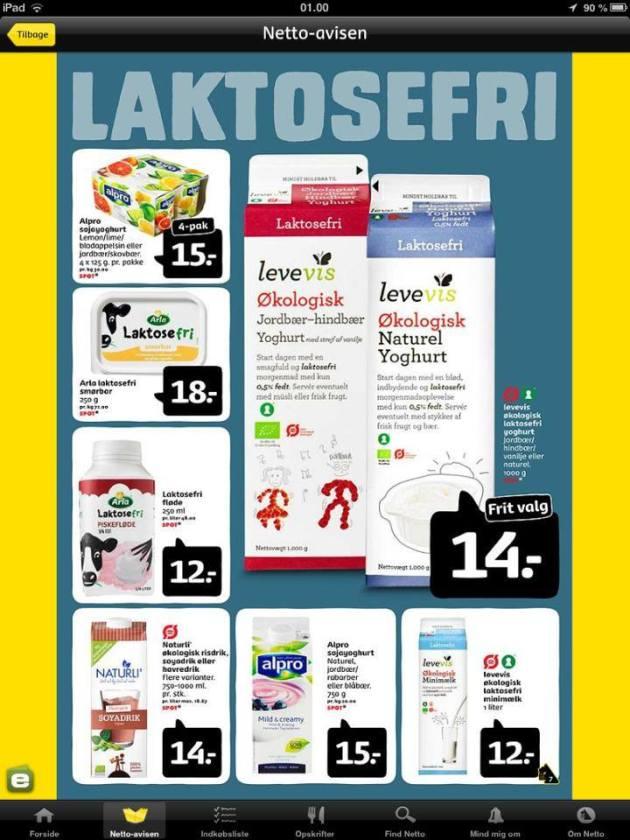 Laktosefri tilbud i Netto